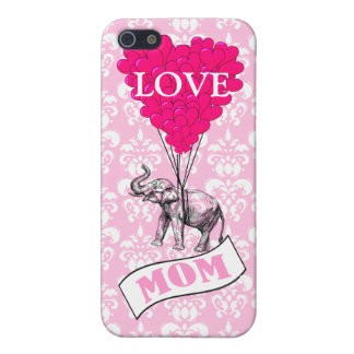 Mom, elephant and heart balloons cover for iPhone 5/5S