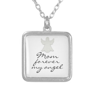 Mom forever my angle necklace