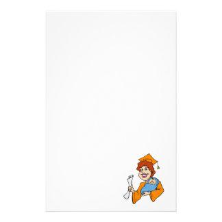 Mom Graduates Orange Stationery Paper