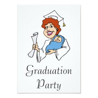 Mom Graduates White Custom Invite