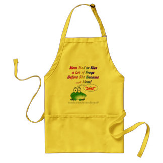 Mom Had to Kiss a Lot of Frogs to Become a Mom Standard Apron