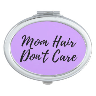 Mom Hair Don't Care Compact in Purple Makeup Mirrors
