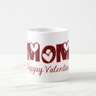 Mom Happy Valentine Cute Cupid Typography Coffee Mug