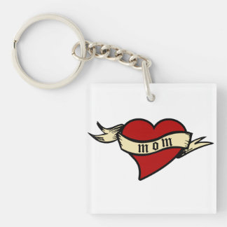 Mom Heart Keychain Mother's Day