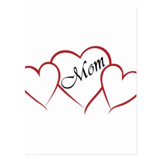 Mom Heart Outline Postcard