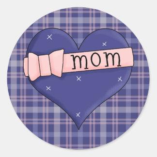 Mom Heart Pink Ribbon Bow Stickers All Seasons
