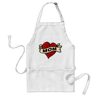 Mom Heart Tattoo Standard Apron