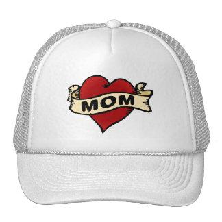 Mom Heart Tattoo Cap