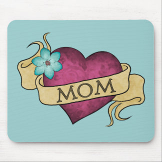Mom Heart Tattoo Mousepad