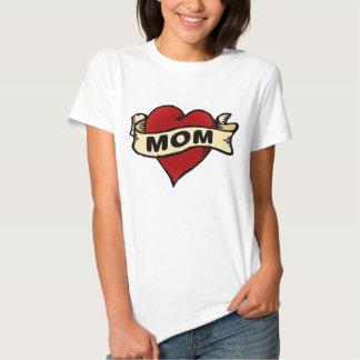 Mom Heart Tattoo T-shirt