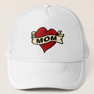 Mom Heart Tattoo Trucker Hat