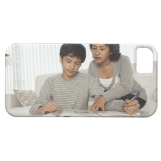 mom helping son with homework case for the iPhone 5