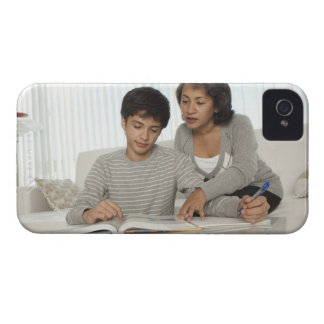 mom helping son with homework iPhone 4 case