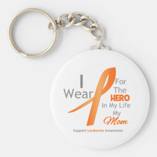 Mom - Hero in My Life - Leukemia Key Chains