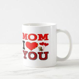 Mom I Love You Basic White Mug