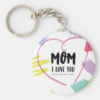 Mom I love you Key Ring