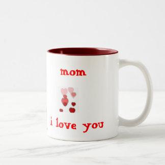 mom i love you Two-Tone mug