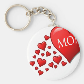 Mom in a flow of hearts keychains