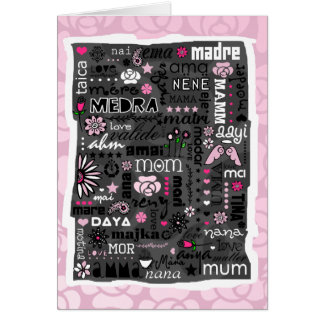 MOM IN DIFFERENT LANGUAGES MOTHER S DAY CARD