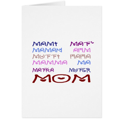 Mom in Different Languages (Mother's Day) Card