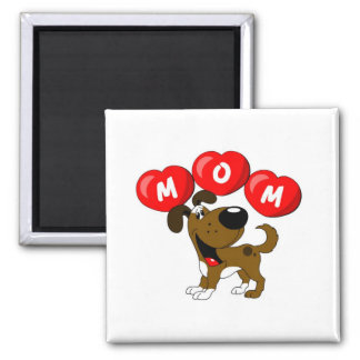 Mom in Hearts (Boots) Square Magnet