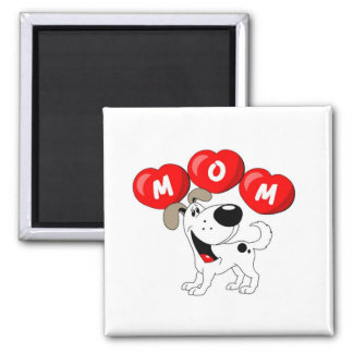 Mom in Hearts (Cutie) Square Magnet