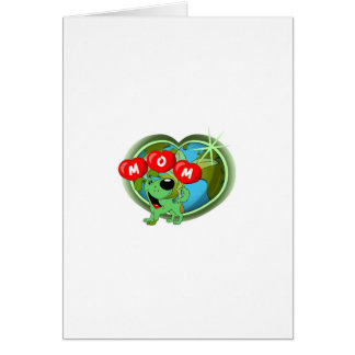 Mom in Hearts Leaf Card