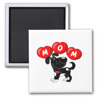 Mom in Hearts (Shadow) Square Magnet