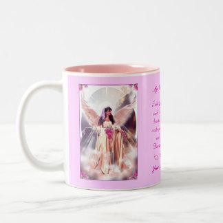 Mom in Heaven Two-Tone Mug