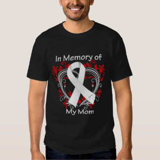 Mom - In Memory Lung Cancer Heart Tees
