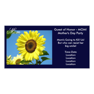 Mom Invitations Photocard Guest of Honor! Mothers Custom Photo Card