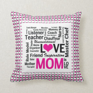 Mom is Love Mother's Day Gift for Do It All Mum Cushion
