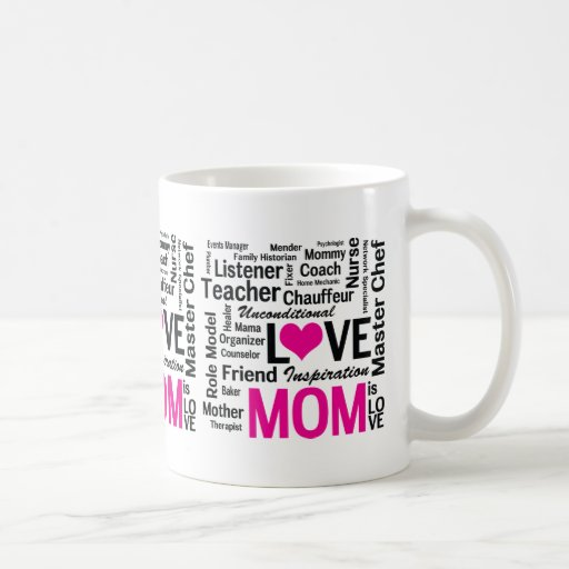 Mom is Love Mother's Day Gift for Do It All Mum Mugs