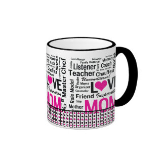 MOM is LOVE, Mother's Day, Mom's Birthday Mugs
