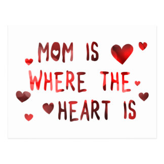 mom is where the heart is bokeh postcard