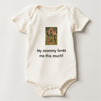 mom kissing baby, My mommy loves me this much! Baby Bodysuit