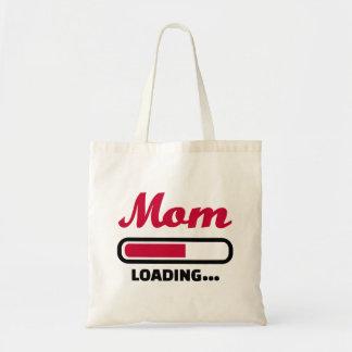 Mom loading budget tote bag