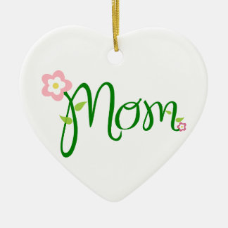Mom Love Floral Heart Blossom Vines Destiny Sports Ornament