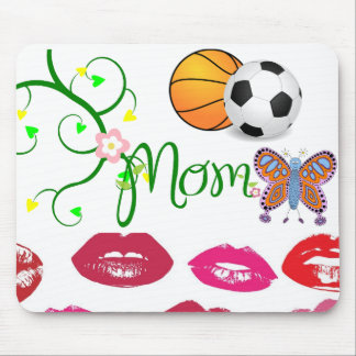 Mom Love Floral Heart Blossom Vines Destiny Sports Mouse Pad