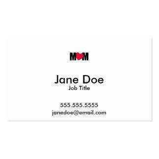 """MOM"" - M <3 M - Heart Design Pack Of Standard Business Cards"