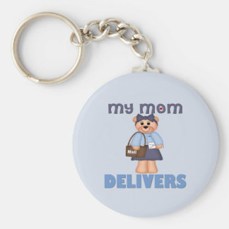 Mom Mail Carrier Basic Round Button Key Ring