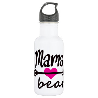Mom Mama Bear Funny Quote by Mini Brothers 532 Ml Water Bottle