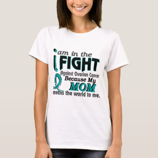 Mom Means World To Me Ovarian Cancer T-Shirt
