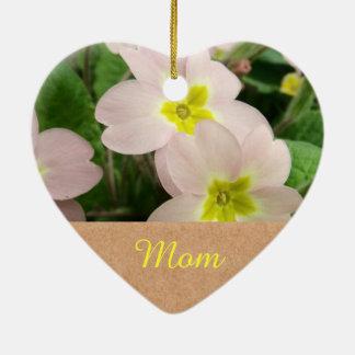 Mom - Mother Day Primrose Flowers Christmas Ornament