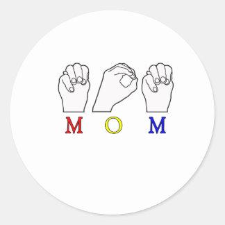 MOM MOTHER NAME ASL FINGER SPELLED ASL STICKER