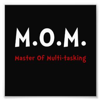 Mom Multitasking Photo Art