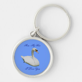 Mom My Hero I Love You Regal Swan Keychain