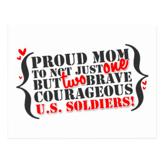 Mom of 2 Soldiers Postcard