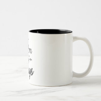 Mom of Boys Two-Tone Coffee Mug