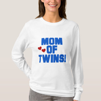 Mom of Twins-Blue Text Tshirts and Gifts
